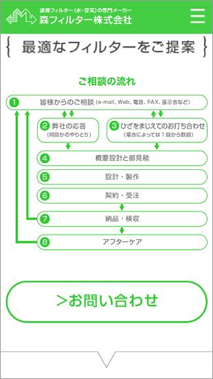 スマートフォンご相談の流れページ